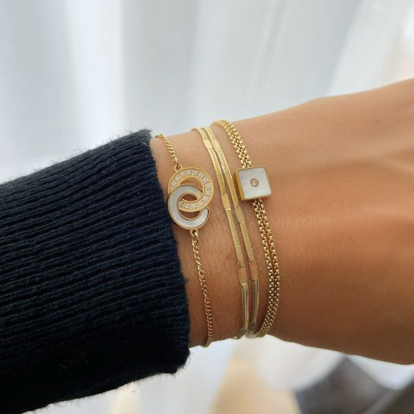 Made by Mila | Armband goud dubbel- ZAG Bijoux 3