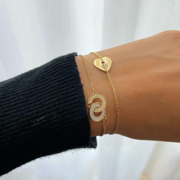 Made by Mila   Armband goud schakels wit zirkonia- ZAG Bijoux 2