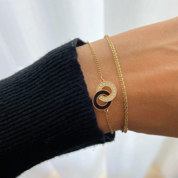 Made by Mila | Armband goud gedraaid- ZAG Bijoux 2