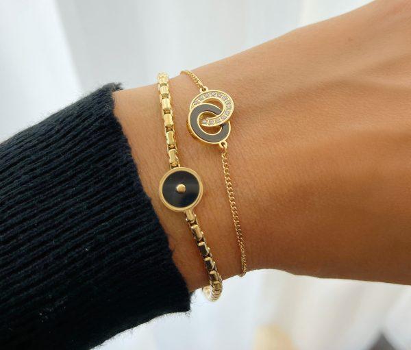 Made by Mila   Armband goud schakels onyx- ZAG Bijoux 2