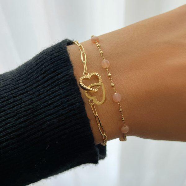 Made by Mila | Armband goud hartjes zirkonia- ZAG Bijoux 2