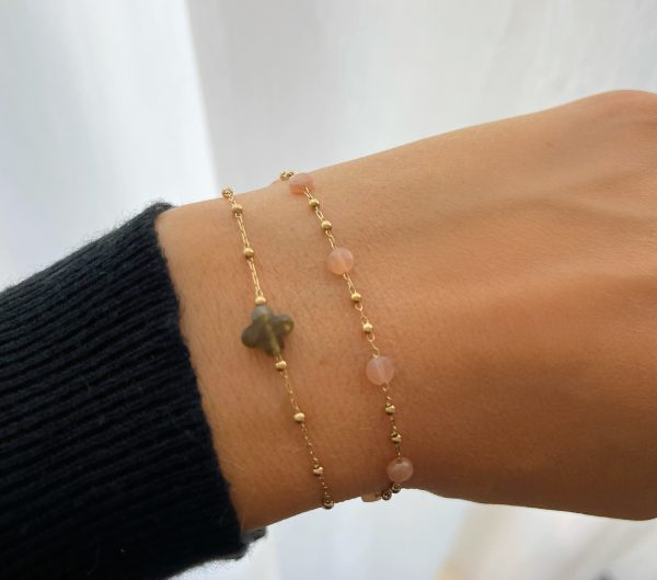 Made by Mila | Armband roze quartz - ZAG Bijoux 3