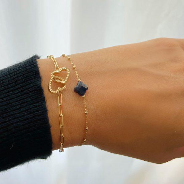 Made by Mila | Armband goud hartjes zirkonia- ZAG Bijoux 3