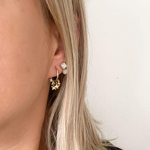 Made by Mila   Oorbellen ringetje met sterretjes steentjes- ZAG Bijoux 3