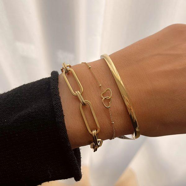 Made by Mila   Klassieke massieve armband - Go Dutch Label 2